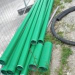 Unverarbeitete grüne Rohre