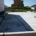Unser Endhaus - hinten geht es raus auf die Terrasse