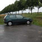 Dank des Regens wird wenigstens mal das Auto sauber... :-)