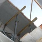 Aussparung für die Holztreppe