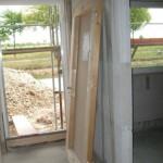 Künftige provisorische Hauseingangstür