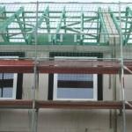 Diagonale Verbindungen der Dachbalken