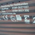 """Die """"Verpackung"""" der Braas-Dachsteine"""