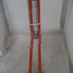 Wasseranschluss für Waschbecken im Gäste-WC