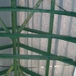 Dachstuhl vom Treppenhaus aus fotografiert
