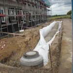 Abwasser- und Regenwasser(versickerungs)-Kanal