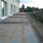 Terrassen der ersten Häuserzeile