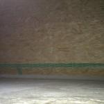 In dieser Holzkonstruktion werden die Pellets gelagert...