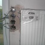 Nach links versetzte Schalter am Wohnzimmer-Heizkörper