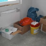 Die Küche wird als Lagerraum genutzt