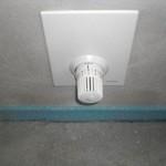 Thermostat für die Fußbodenerwärmung im Badezimmer