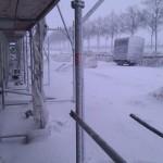 So sah es heute vor der Baustelle aus - die Telekom-Gruben sind noch immer nicht zugeschüttet