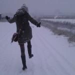 Durch den Schnee kommt Freude auf. :-)