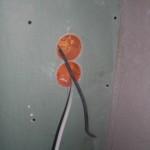 Schalter und Steckdosen in Trockenbauwand (wird noch gefließt)