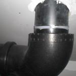 Nochmal ein Bild eines der Lüftungsrohre im Technikraum