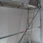 Gerüst im künftigen Trepenhaus (hier EG)
