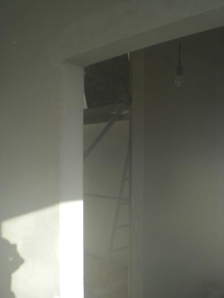 gipskarton geschleift t rlaibung verputzt vlies kommt an die wand passivhaus bautagebuch. Black Bedroom Furniture Sets. Home Design Ideas