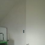 Übergang zwischen nicht tapezierter Wand und tapezierter Wand (vom Treppenhaus)