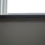 Fensterbank von im Profil bzw. von unten