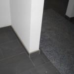 Sockel im Bereich der Küchentür-Laibung