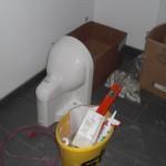WC-Becken wartet auf Einbau