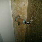 Gepolsterte Klinke der Bautür :-)