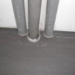 Versiegelte Wasserleitungen in der Küche