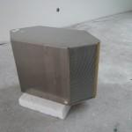 Der aus der KWL ausgebaute Wärmetauscher, in dem sich warme und kalte Luft kreuzen