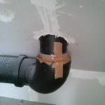Dieses Rohr hatte sich gelöst und daher für einen erheblichen Luftstrom gesorgt