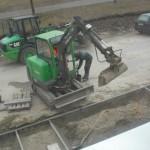 Bauarbeiten am Vorgarten