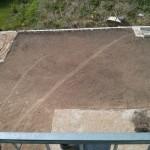 Für Rollrasen vorbereiteter Boden