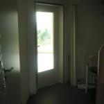 Wohnzimmertür mit Glaseinsatz (leider kein Sicherheitsglas - daran haben wir nicht gedacht)
