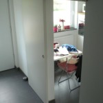 Die neue Küchen-Schiebetür geöffnet