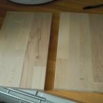 Spontan entstandene Holzbrettechen aus Buchenholz