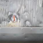 Weitere Beschädigung im Bereich des Dachfensters