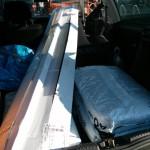 In so einen Golf 3 passt mehr als man denkt - zum Beispiel 28 Stück 2,60m lange Sockelleisten - und für ein paar Säcke Rindenmluch ist auch noch Platz. :-)