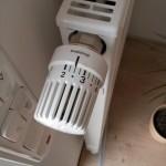 Gemäßigt aufgedrehtes Heizungs-Thermostat