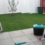 ...und der Rasen nach dem Mähen - sieht gleich wieder ordentlicher aus. :D