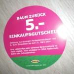 Rückseite des IKEA-Gutscheines