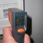 Die Oberflächenmessung ergibt 37 Grad