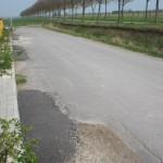 Provisorische Straße im derzeitigen (absolut zufriedenstellendem) Zustand