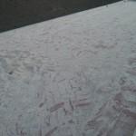 Zum Teil wurde bereits ordentlich Sand aufgebracht und eingefegt.