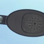 """Aus der Nähe sind die einzelnen Leuchtdioden zu sehen und der Hersteller """"Hellux"""""""
