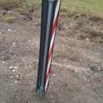 Die Leitbaken wurden fest im Boden eingearbeitet.