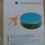 Vorderseite der Anleitung der Magnetbefestigung